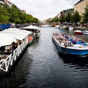 Canalboat and  boat rental at  Christianshavn canal